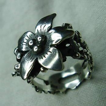 Silver Flower by Jonatan Kor
