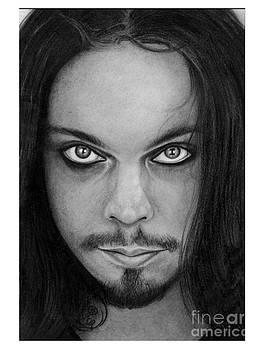Ville Valo 12 Pencil Drawing by Debbie Engel