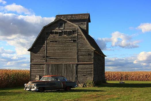 Vintage Cadillac and Barn by Lyle Hatch