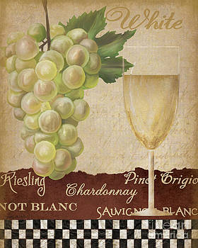 White wine collage by Grace Pullen