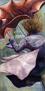 01155 wild Umbrella by AnneKarin Glass