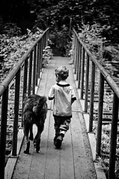 A Boy and His Dog by Matthew Saindon