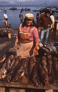 A Fish Market In Chile by Thomas D McManus