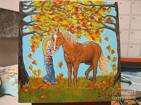 A Girl and Her Horse II by Ida Brown