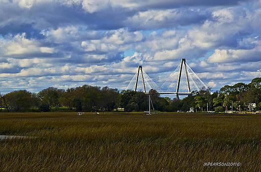 A Ravenel Bridge Charleston SC by Megan Pearson