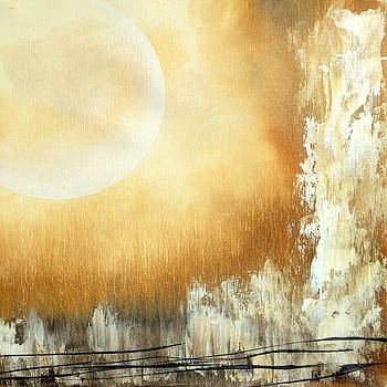 Abstract with moon by Ed Wyatt
