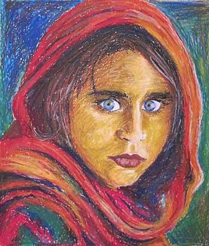 Afganistan girl by Ema Dolinar Lovsin
