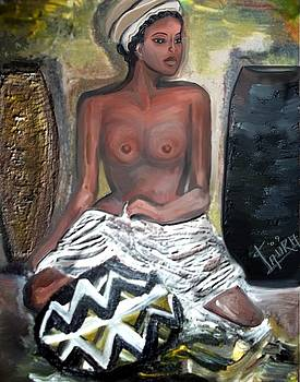 African Drum Woman by Laura Fatta