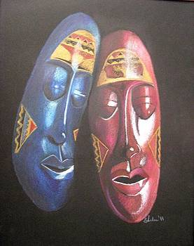 African masks by Elena Malec