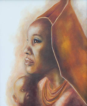 African Mother and Child by Lori Hill