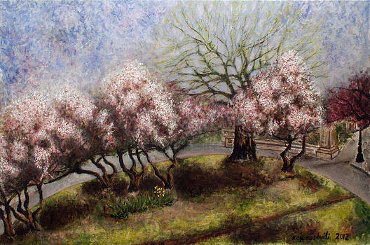 Apple trees by Vladimir Kezerashvili