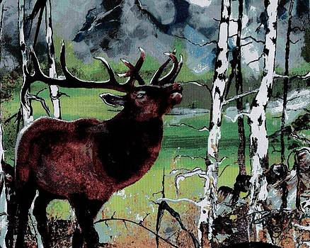 Aspen Elk by Wayne  Ligon