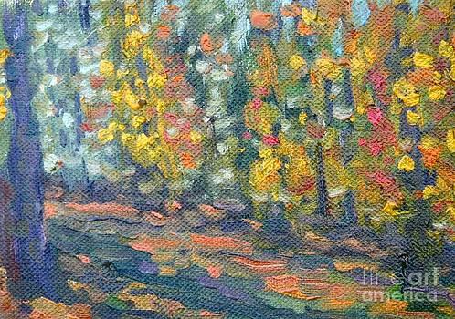 Autumn Trail at Dellwood by Jane  Simonson