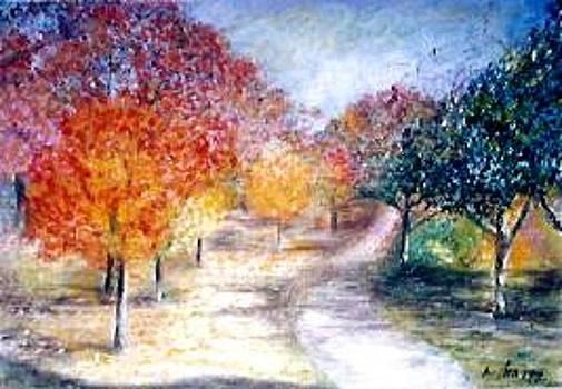 Autumn Trees by Mita Garcia