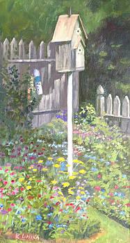 Backyard Birdhouse  by Karen Lipeika