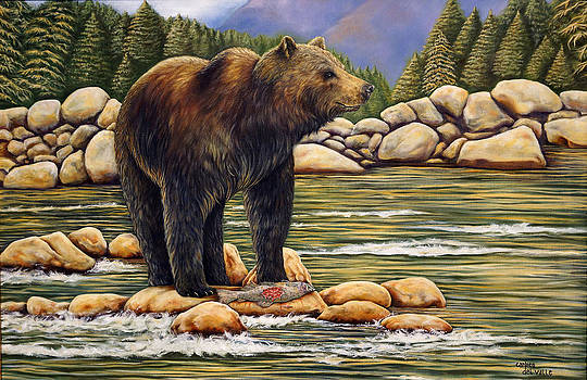 Bear Catch Of The Day by Carmen Del Valle