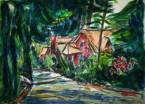 Allen Forrest - Beaux Arts Home by Wooded Lane