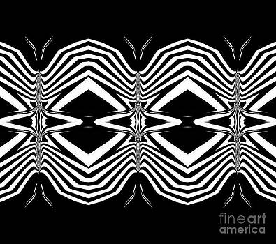 Pattern Black White Geometric Art No.302. by Drinka Mercep