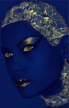Blue face by Janet G T