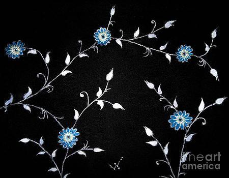 Blue flowers by Dye n  Design