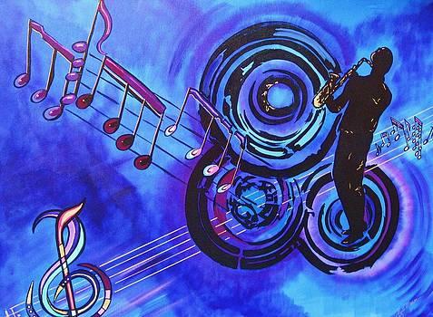 Blues and Purple Rhapsody by Bill Manson