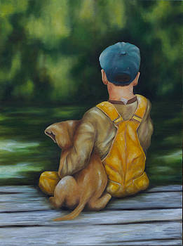 Boy and His Puppy by Lori Hill