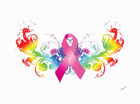 Breast Cancer Awareness Rainbow by Tim Towler