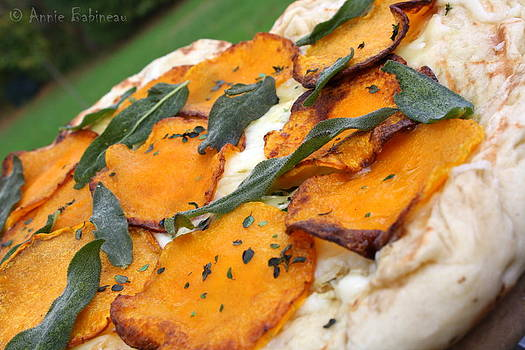 Anne Babineau - butternut squash and crispy sage grilled pizza