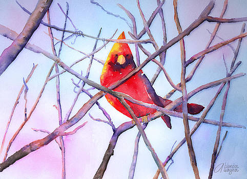 Cardinal On A Branch by Arline Wagner