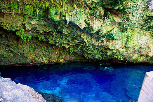 Cave With Blue Water by Janet G T