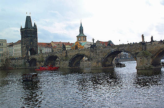 Charles Street Bridge in Prague by Paul Pobiak