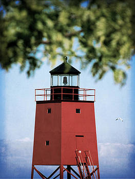 Charlevoix South Pier Lighthouse by Christy Woods