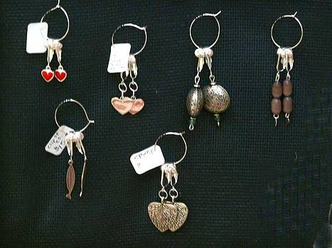 Clip-on earrings by Joan  Jones