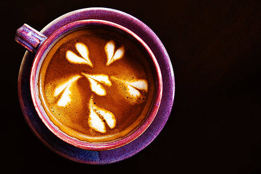 Close-up shot of barista coffee cup. by Chaloemphan Prasomphet