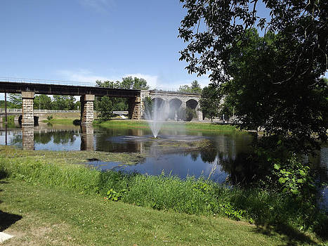 CNR Bridge Napanee Ontario by Jim Beattie