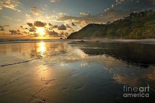 Costa Rican Beach at Sunset by Matt Tilghman