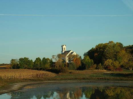 Country Church Dawn by Brian  Maloney
