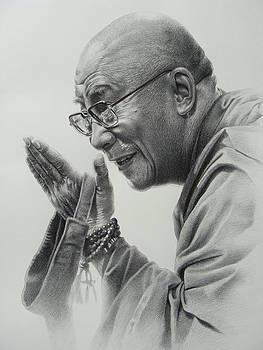 Dalai Lama by Supot Pimpan
