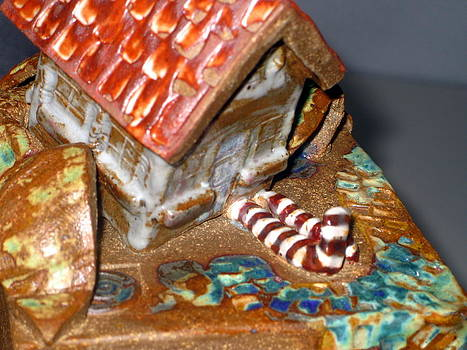 DETAIL House that Fell on Wicked Witch Treasure Chest by Chere Force