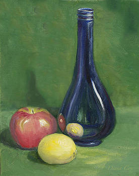 Diana Cox - Fruit and Blue Bottle