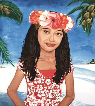 Girl In Hawaii by Miriam Sage