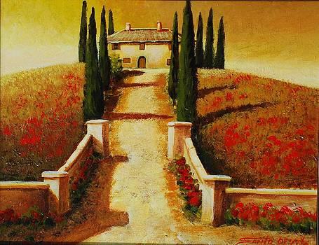 Hilltop  Villa by Santo De Vita