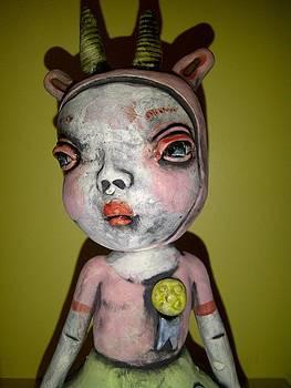 Horned Girl Cool by Kathleen Raven