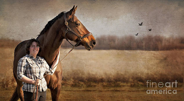 Horse and rider by Heather Swan