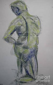 Kneeling by Gill Kaye