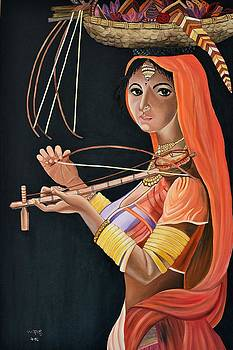 Lambani girl by Usha Rai