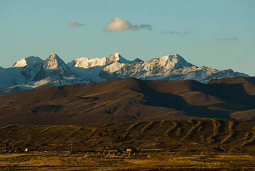 Landscape of the highlands and the Cordillera Real. Republic of Bolivia. by Eric Bauer