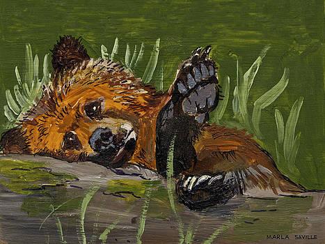 Lazy Bear by Marla Saville