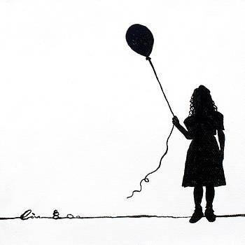 Little Girls on Little Canvas  by Cindy D Chinn