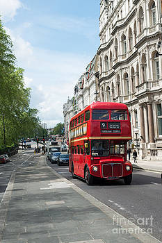 London Bus by Andrew  Michael